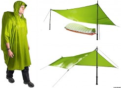 SEA TO SUMMIT ULTRA-SIL Nano Tarp pončo - lime