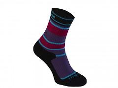 MerinoFusion Hiker Junior::::purple/black/041::M::ponožky