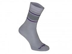 Merino Sock / Liner Women's::::lt. grey/purple/065::S::ponožky