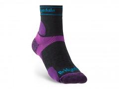 Bridgedale Trail Run UL T2 MS 3/4 Crew Women's    charcoal/purple/260  S